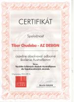 Austro Flam - Certifikát o absolvovaní odborného školenia - AZ DESIGN - Tibor Chudoba krbyonline
