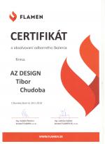 Flamen certifikát - Odborné školenie - AZ DESIGN - Tibor Chudoba krbyonline