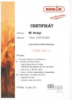 Kobok certifikát - Odborné školenie - AZ DESIGN - Tibor Chudoba krbyonline