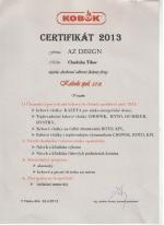 Kobok certifikát - Odborné školenie č.2 - AZ DESIGN - Tibor Chudoba krbyonline