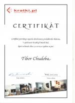Kratki.pl certifikát - Produktové školenie - AZ DESIGN - Tibor Chudoba krbyonline