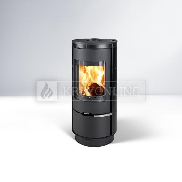 Thorma Andorra Štandard čierna krbové akumulačné keramické kachle krbyonline