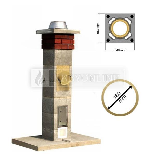 Stadreko - Jednoprieduchový komínový systém s vatou Ø 180 krbyonline