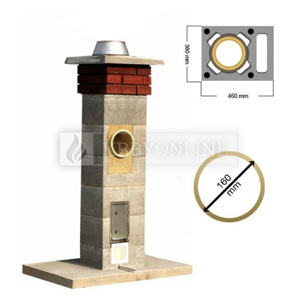 Stadreko komín s vetracou šachtou Ø 160 mm