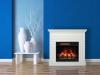 Classic Flame Kemi biely 3D moderný elektrický krb krbyonline