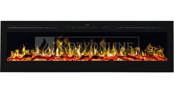 Aflamo Majestic 72 moderný elektrický krb s 3D efektom plameňa krbyonline