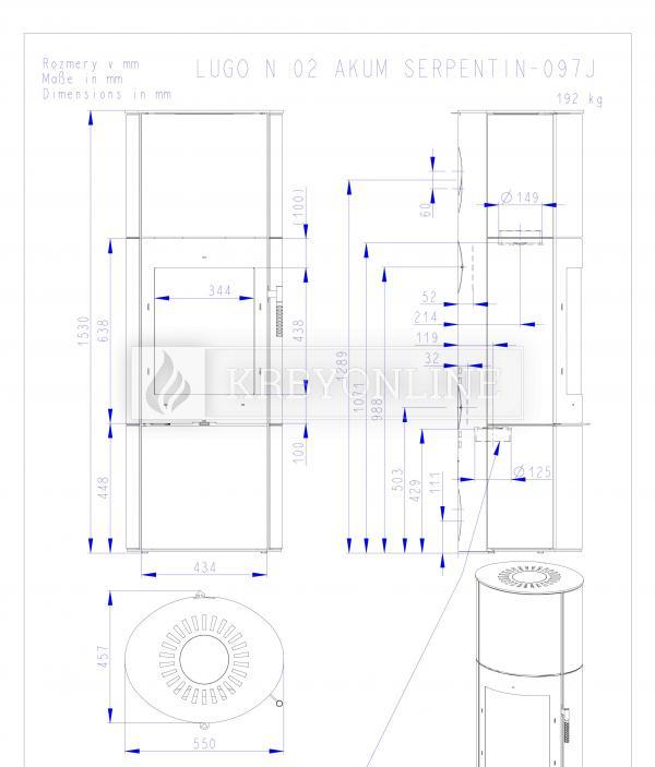 Romotop LUGO N 02 AKUM akumulačné krbové kachle s mastencovým obložením krbyonline