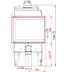 BeF Royal 7 CP teplovzdušná krbová vložka rohová pravá krbyonline
