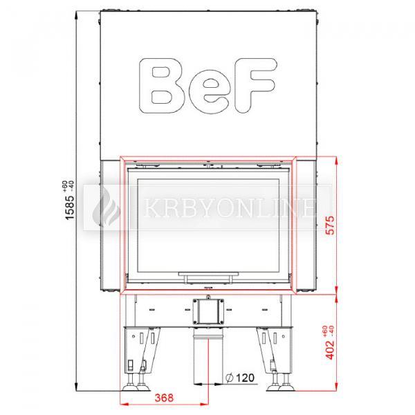 BeF Royal V 7 teplovzdušná krbová vložka rovná s výsuvnými dvierkami krbyonline