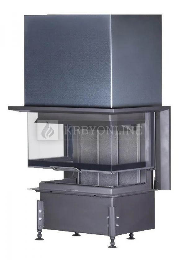 Kobok Chopok 2R90 S/500 VD 755/450 510 570 teplovzdušná trojstranná krbová vložka s výsuvnými dvierkami krbyonline