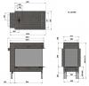 Trimline 83 Room Divider plynová krbová vložka trojstranná krbyonline