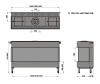 Trimline 100 Panoramic plynová krbová vložka trojstranná krbyonline