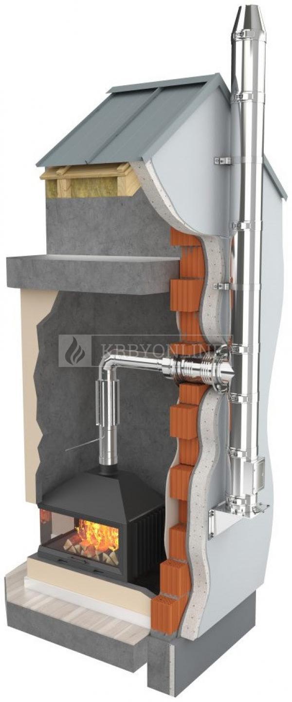 Darco - trojplášťový izolovaný nerezový komínový systém Ø 180 mm krbyonline