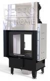 Defro Home Intra SM T G teplovzdušná krbová vložka rovná s obojstranným presklením a výsuvným otváraním dvierok krbyonline