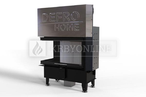 Defro Home Intra ME BL G teplovzdušná krbová vložka ľavá rohová s výsuvným otváraním dvierok krbyonline