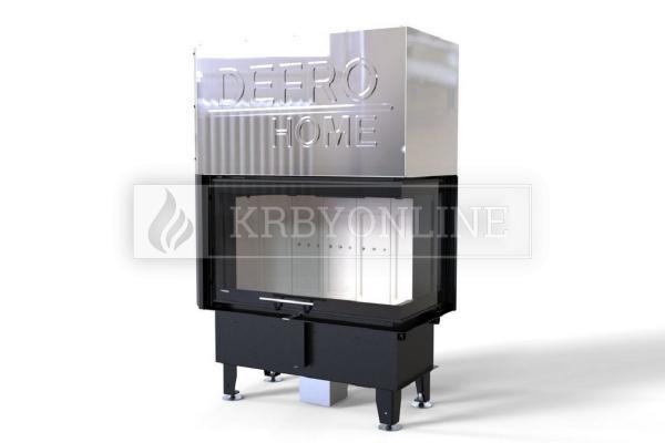 Defro Home Intra ME BP G teplovzdušná krbová vložka pravá rohová s výsuvným otváraním dvierok krbyonline