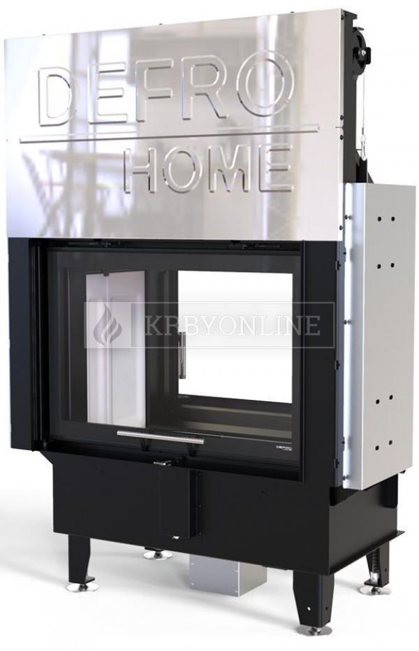 Defro Home Intra ME T G teplovzdušná krbová vložka s rovným obojstranným presklením a výsuvným otváraním dvierok krbyonline