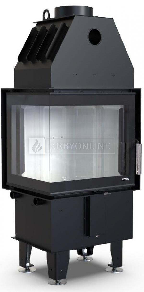 Defro Home Intra XSM BL MINI teplovzdušná krbová vložka s ľavým rohovým presklením krbyonline