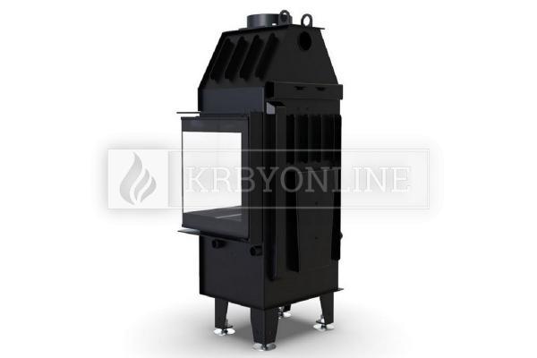 Defro Home Intra XSM BP MINI teplovzdušná krbová vložka s pravým rohovým presklením krbyonline