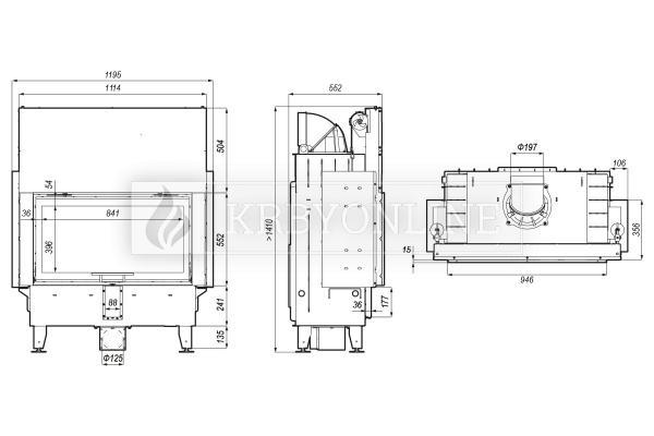 Defro Home Intra LA G teplovzdušná krbová vložka s rovným presklením a výsuvnými dvierkami krbyonline