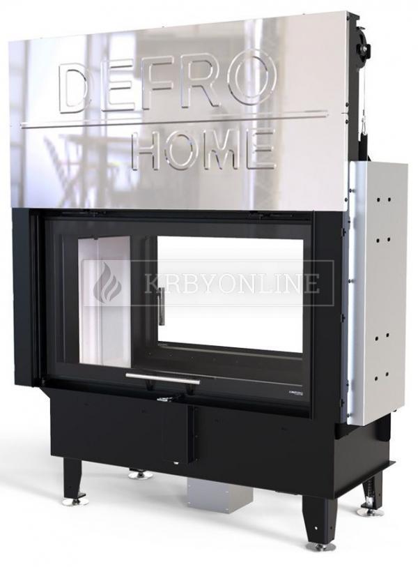 Defro Home Intra LA T G teplovzdušná krbová vložka s obojstranným rovným presklením a výsuvnými dvierkami krbyonline