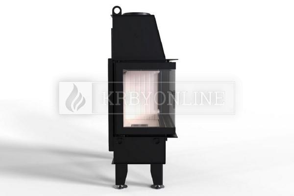 Defro Home IMPULS ME BL teplovzdušná krbová vložka s ľavým rohovým presklením krbyonline