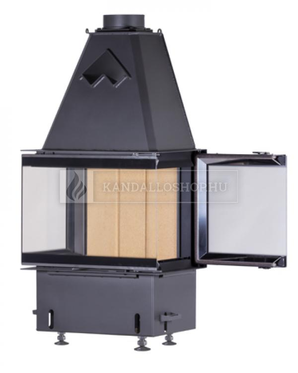 Kobok Chopok 2R 90 S/450 730/450 510 570 minőségi, masszív, három oldals kandallóbetét oldalra nyíló ajtóval kandalloshop