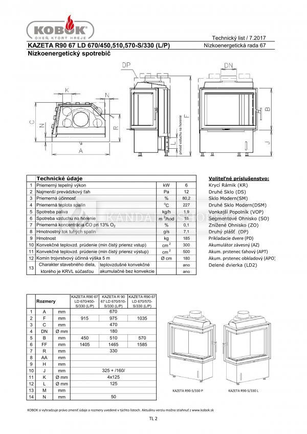 Kobok Kazeta R90-S/330 670/440 500 560 minőségi, modern kandallóbetét alacsony energiaigényű házba kandalloshop