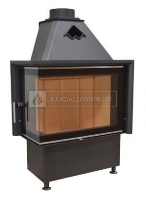 Kobok Chopok R 90 S/330 L 670/500 sarki, légfűtéses, acél kandalló samott tűztérrel