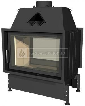 Kobok Chopok O 730/450 510 560 zárt égésterű, két oldali, légfűtéses, acél kandallóbetét samott tűztérrel