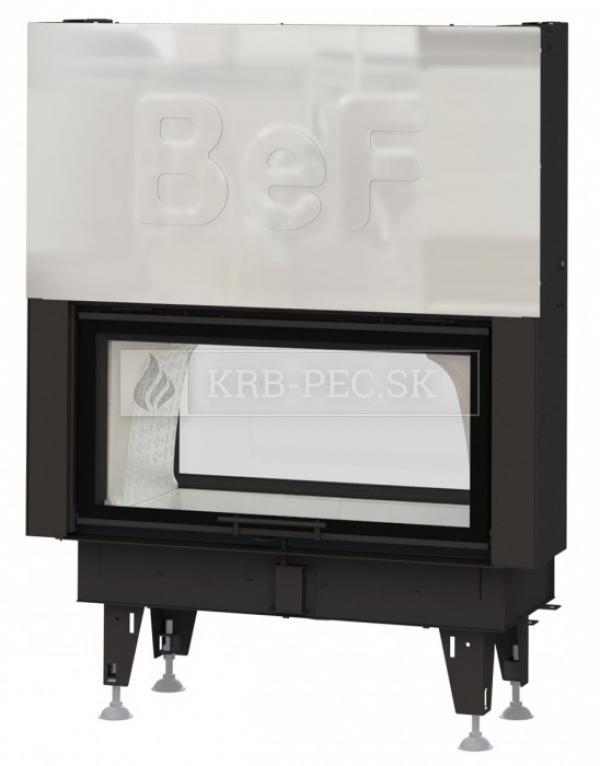 BeF Twin V 10 II kvalitná, dizajnová teplovzdušná krbová vložka s výsuvnými dvierkkami a zadným prikladaním krb-pec