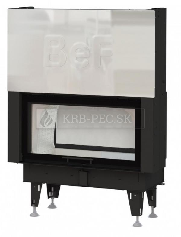 BeF Twin V 10 N Aquatic II kvalitná, dizajnová teplovodná krbová vložka s výsuvnými dvierkkami a zadným prikladaním krb-pec