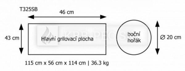 Gril Napoleon TRIUMPH 325 záhradný nerezový samostatný gril krb-pec