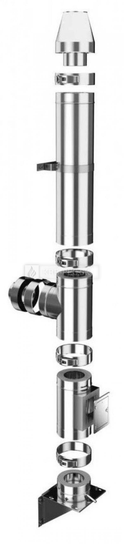 Darco - trojplášťový izolovaný nerezový komínový systém Ø 150 mm krb-pec