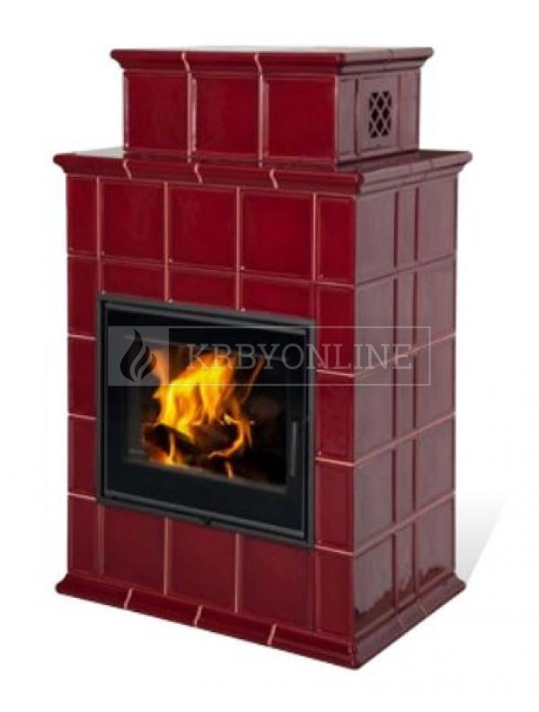 Hein BARACCA 9 klasické keramické krbové kachle s veľkým ohniskom krbyonline