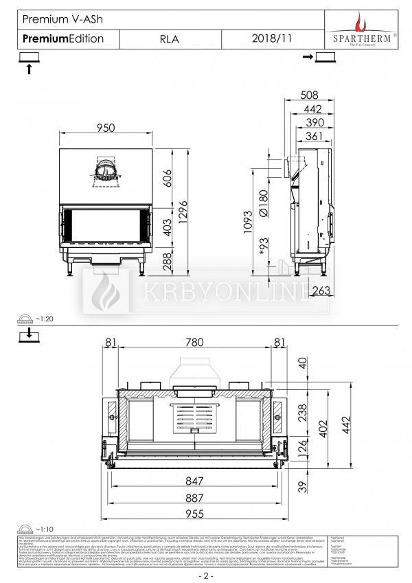 Spartherm Premium V ASh rovná oceľová krbová vložka s bezrámovými výsuvnými dvierkami krbyonline