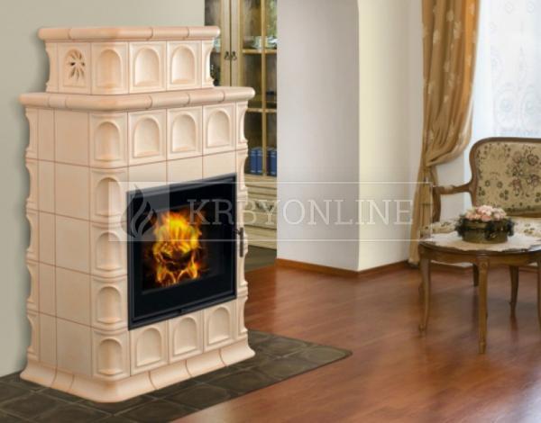 Hein Baracca 3 TV keramické teplovodné krbové kachle krbyonline