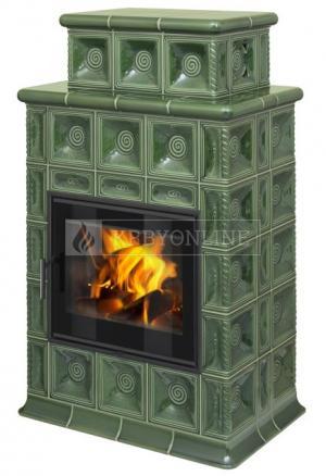 Hein Baracca 4 TV keramické teplovodné krbové kachle