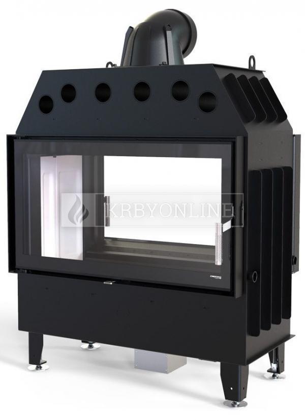 Defro Home Intra LA T teplovzdušná krbová vložka s obojstranným rovným presklením krbyonline